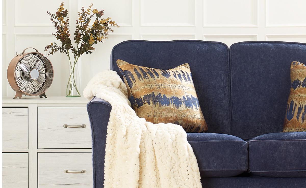 Everyday Velvet - Denim replacement furniture cover
