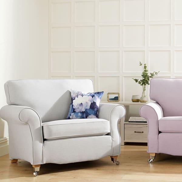 Luxury Cotton Weave - Regency Grey - Sofa Cover