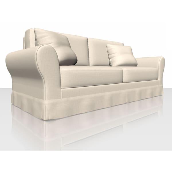 Aquaclean Textured Plain - Chalk - Sofa Cover