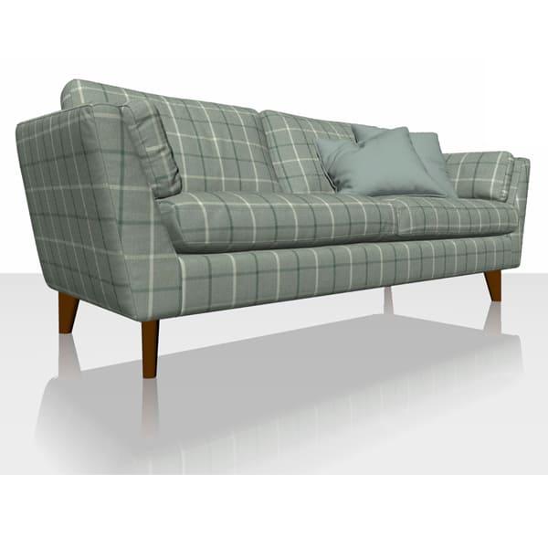 Highland Check - Aqua - Sofa Cover