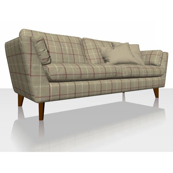 Highland Check - Caramel - Sofa Cover