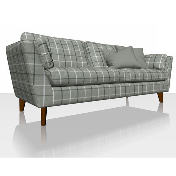 Highland Check - Granite - Sofa Cover