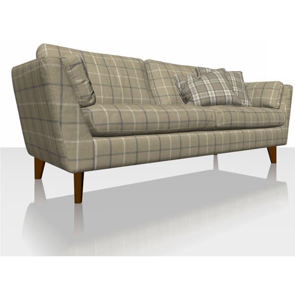 Highland Check - Oatmeal - Sofa Cover
