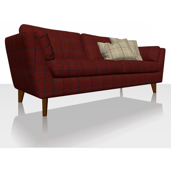 Highland Check - Red- Sofa Cover