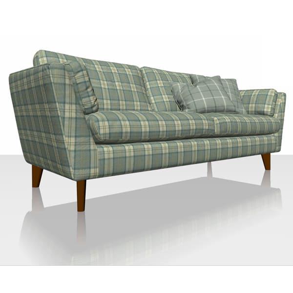 Highland Plaid - Aqua - Sofa Cover