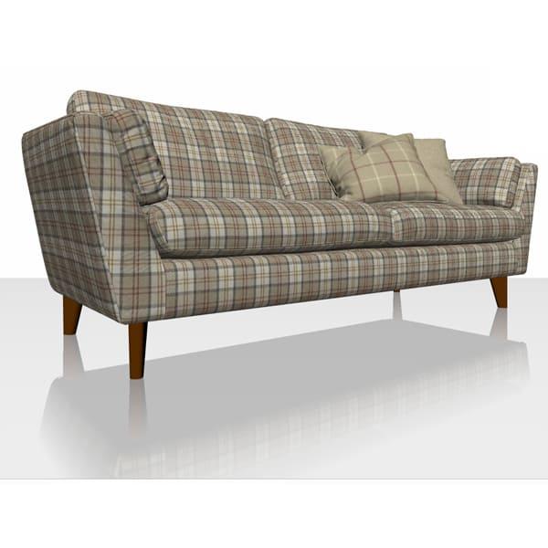 Highland Plaid - Caramel - Sofa Cover