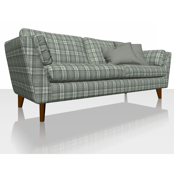 Highland Plaid - Granite - Sofa Cover