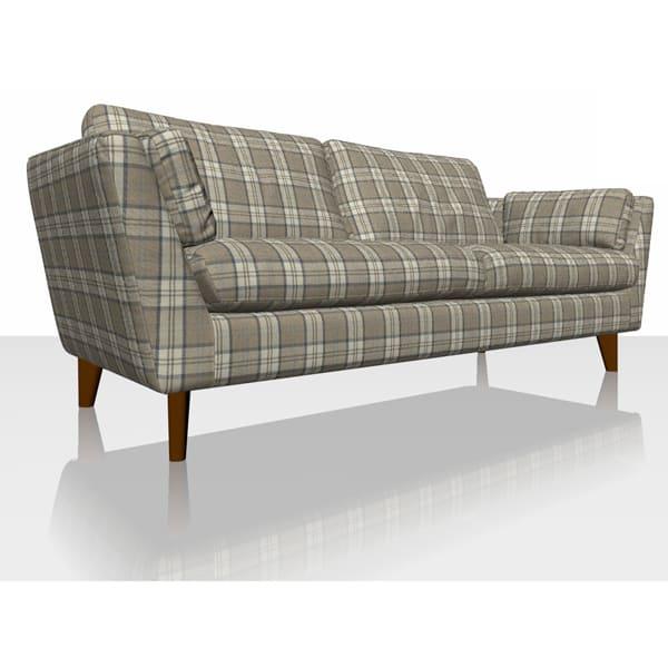 Highland Plaid - Oatmeal - Sofa Cover