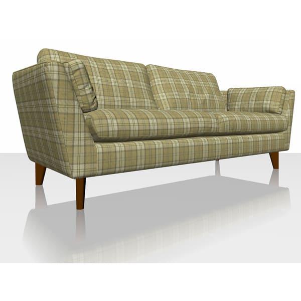 Highland Plaid - Olive - Sofa Cover