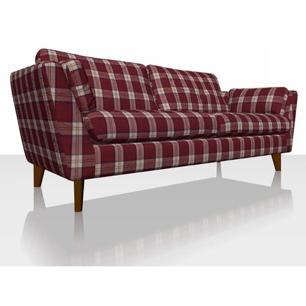 Highland Plaid - Red - Sofa Cover