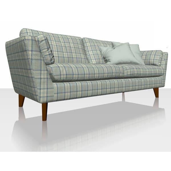 Highland Plaid - Sky - Sofa Cover