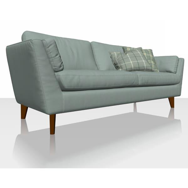 Signature Herringbone - Aqua - Sofa Cover