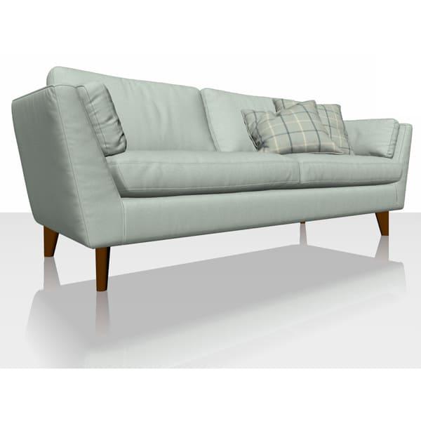 Signature Herringbone - Dove - Sofa Cover