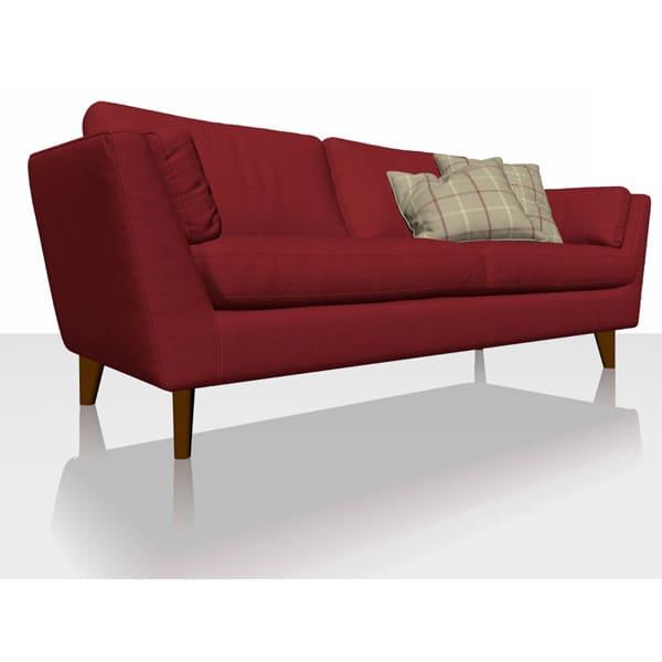 Signature Herringbone - Red - Sofa Cover
