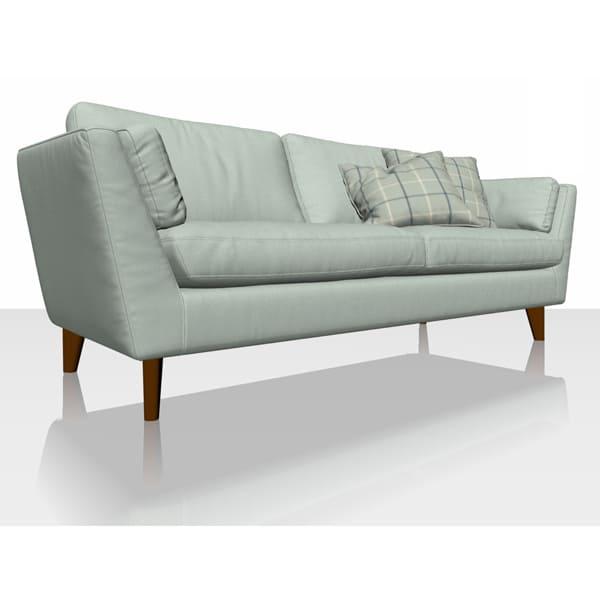 Signature Herringbone - Sky - Sofa Cover