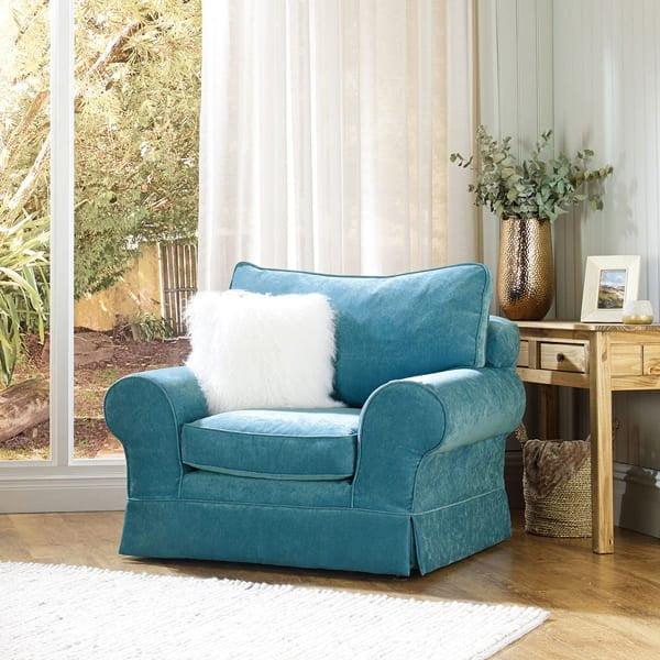 Everyday Velvet - Azure - Sofa Cover