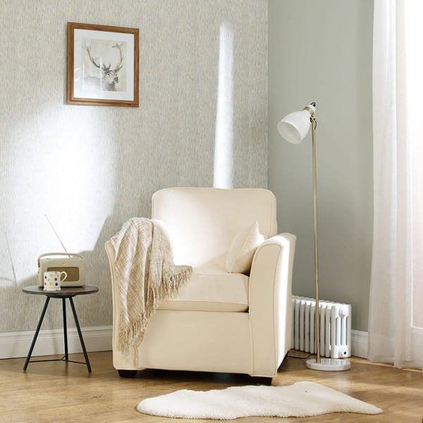 Everyday Velvet - Chalk - Sofa Cover
