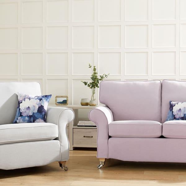 Luxury Cotton Weave - Blush - Sofa Cover