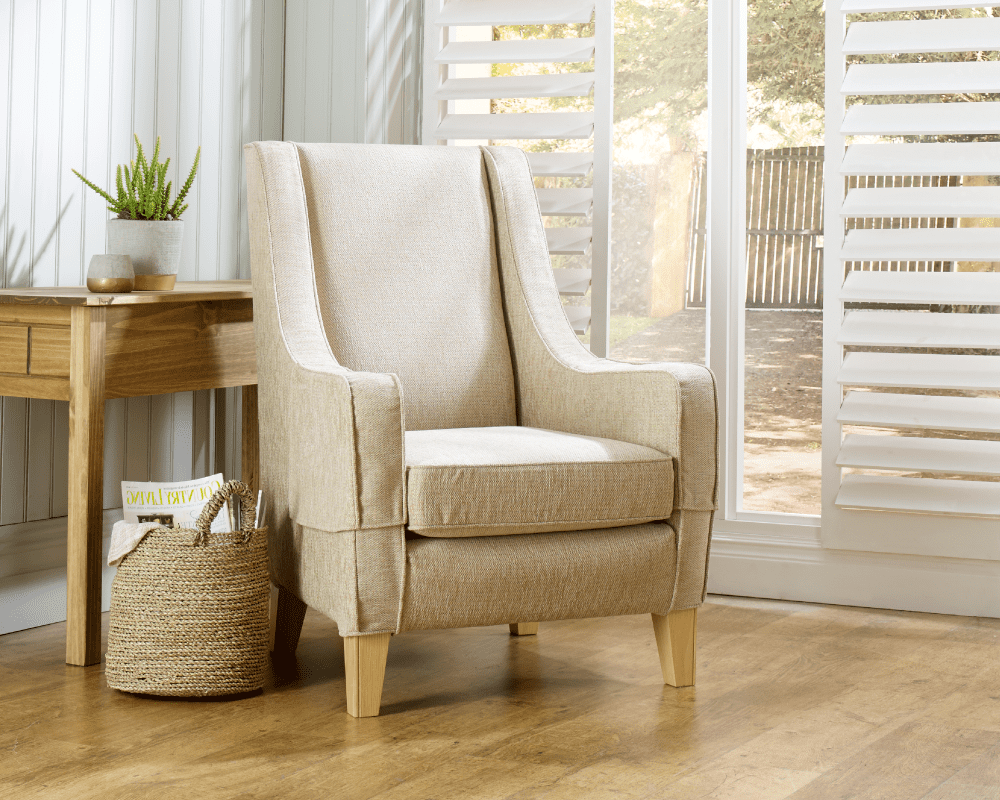 Choose your replacement armchair cover from a huge range of fabrics and textures