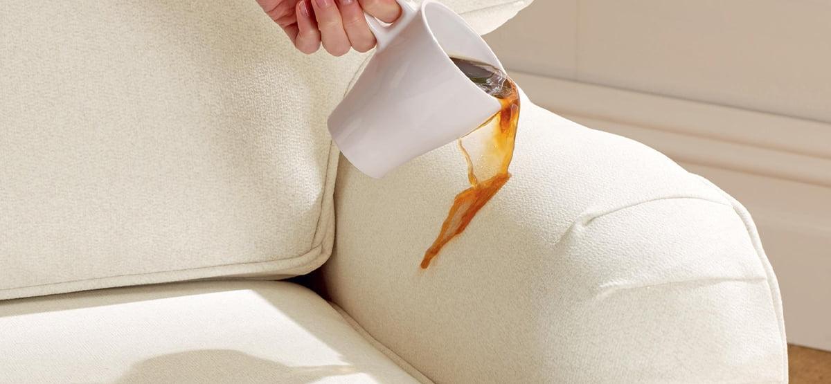 Coffee stain on sofa