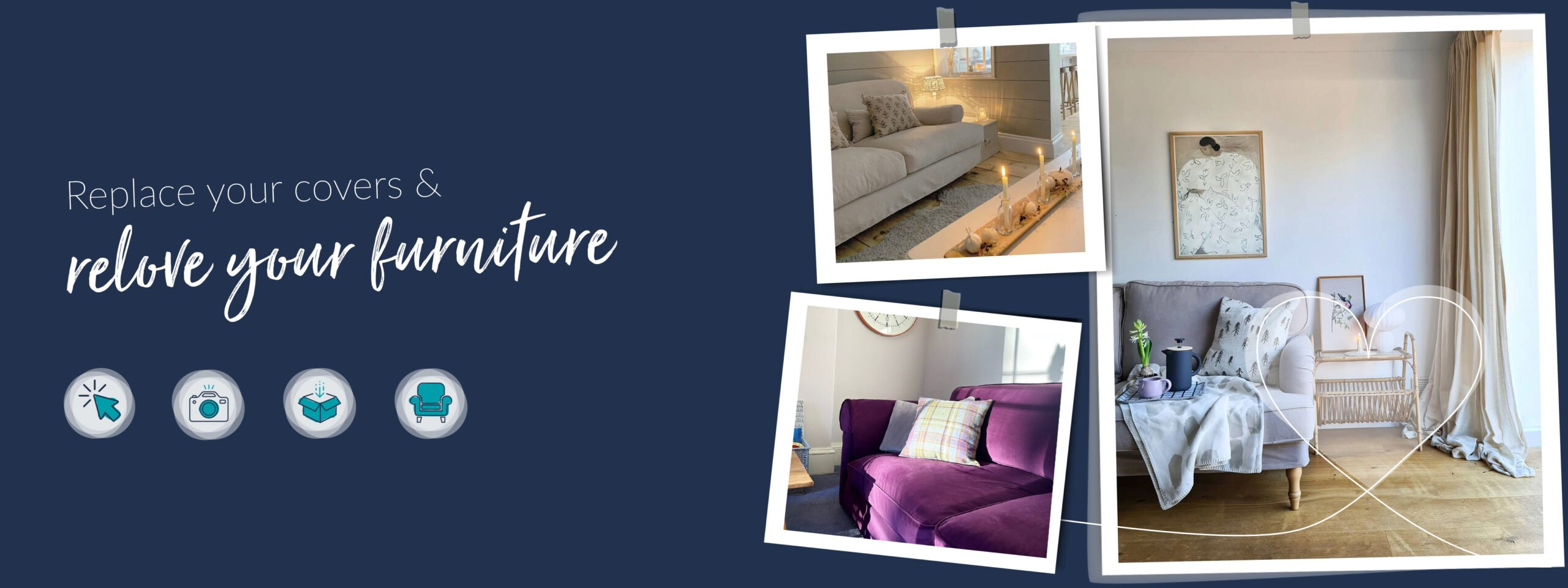 Replace your covers & relove oyur furniture with Cover My Furniture