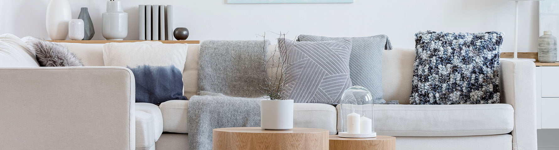 white sofa cover