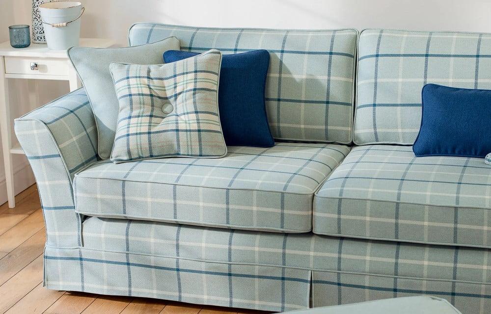 highland check sofa